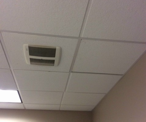 Ceiling Tile Replacement - After
