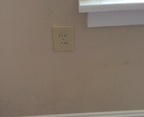 Electrical Outlet Replacement - After