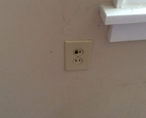 Electrical Outlet Replacement - Before
